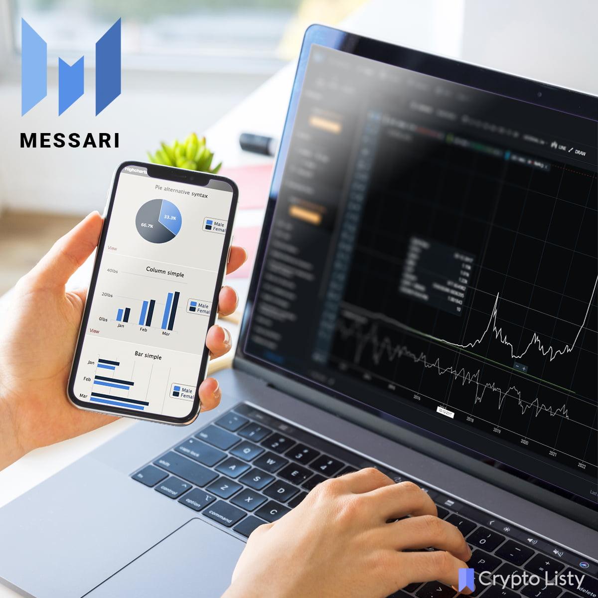 Messari on a laptop