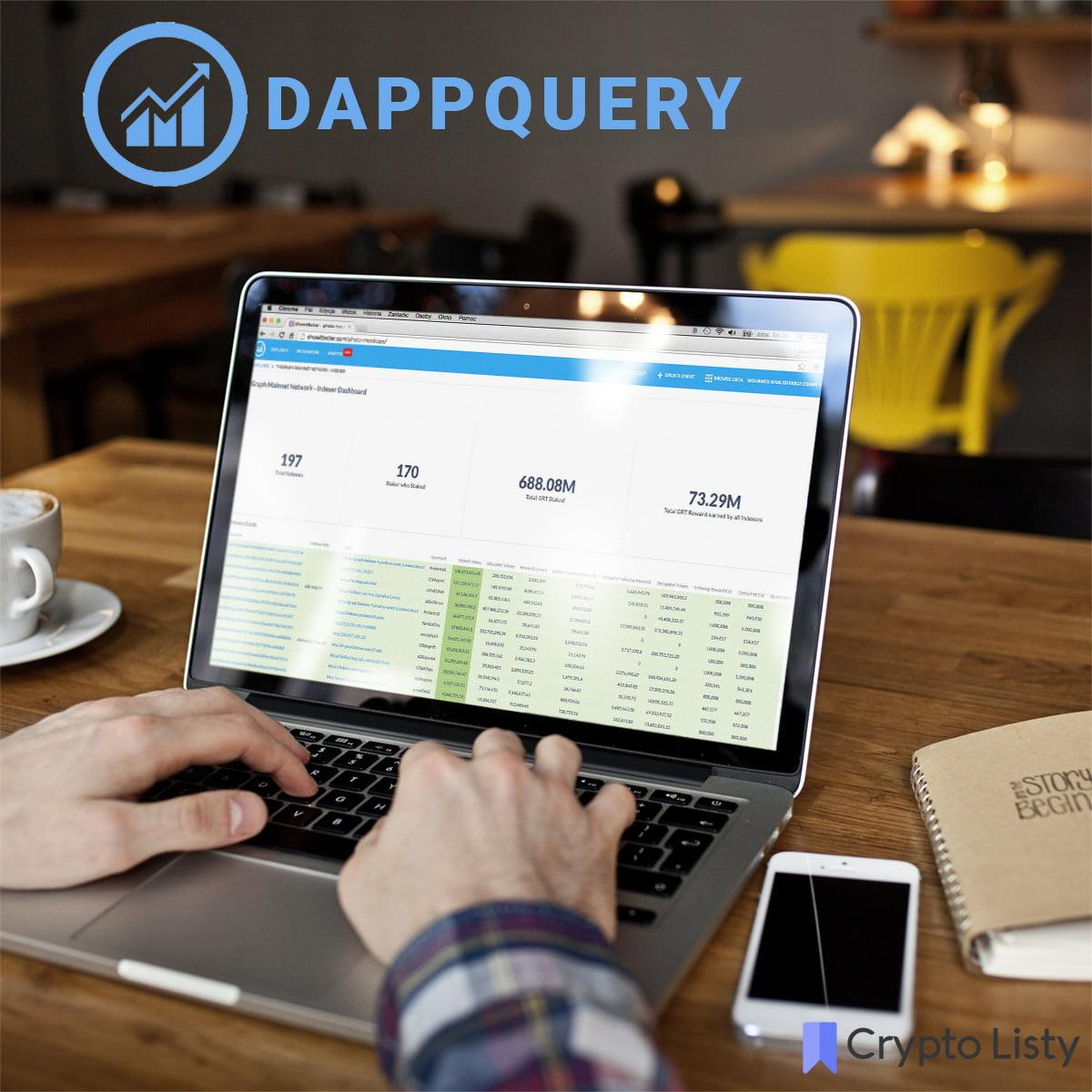 Dappquery on a laptop