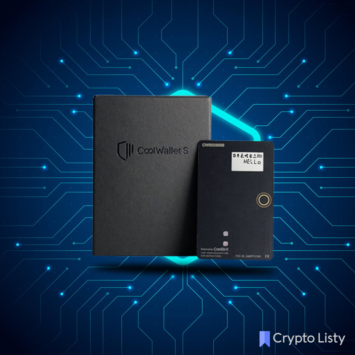 CoolWallet S device.