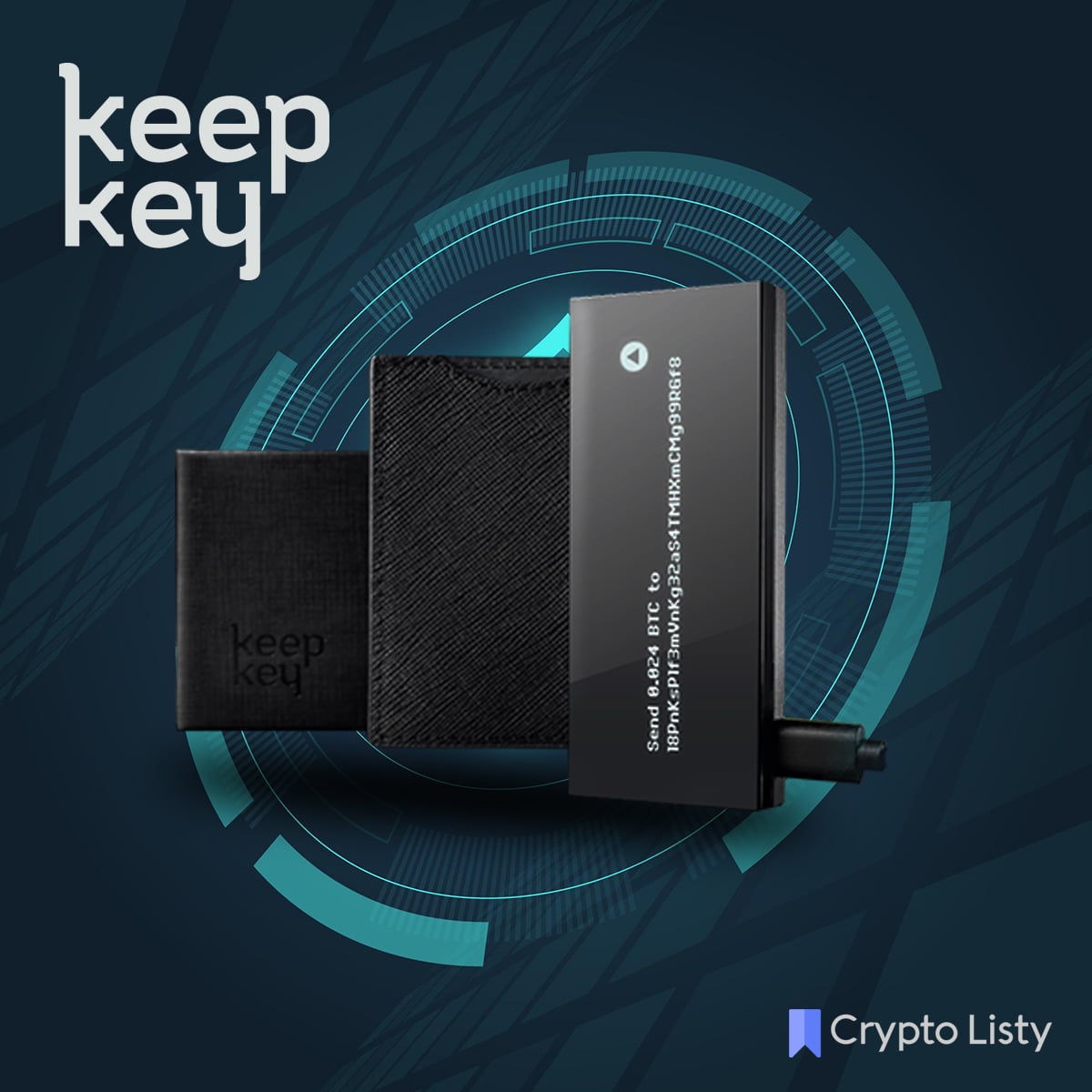 KeepKey device and wallets next to it