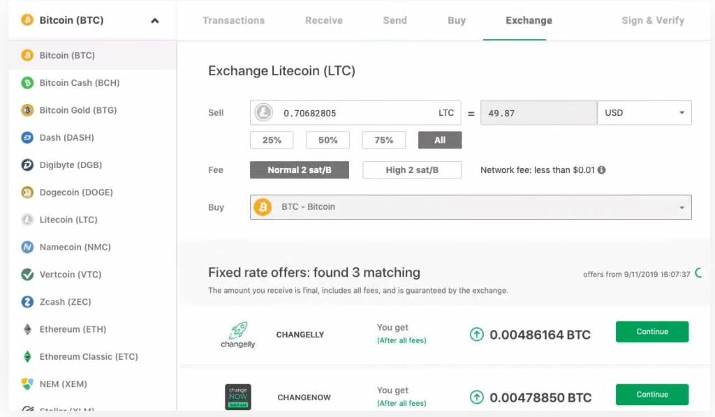 Use Trezor web integration to connect to your holdings.