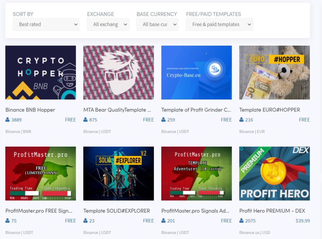 Copy Templates on CryptoHopper. Best copy-trading platforms