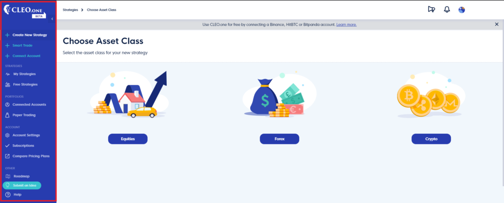 choose your asset class on CELO.one review