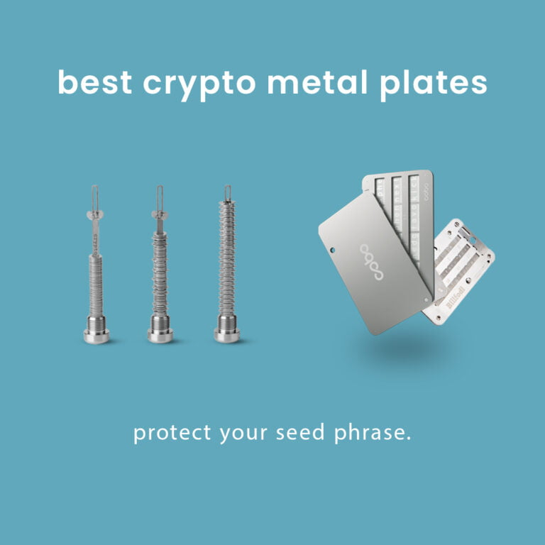 4 Best Crypto Metal Plates for Recovery Seed Key and Wallet Backups.