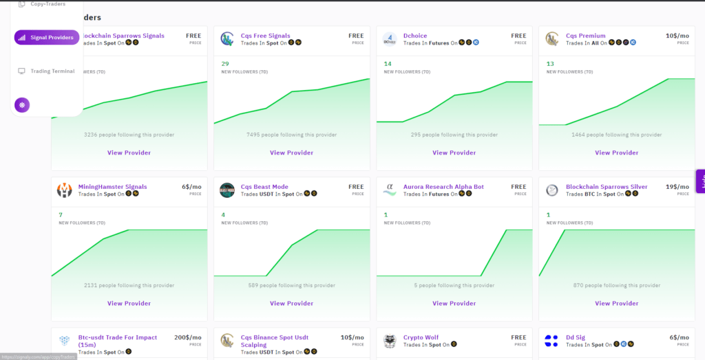 Follow traders on Zignaly who use the strategy that you're looking for.