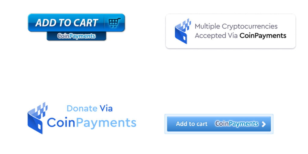 CoinPayments Buttons.