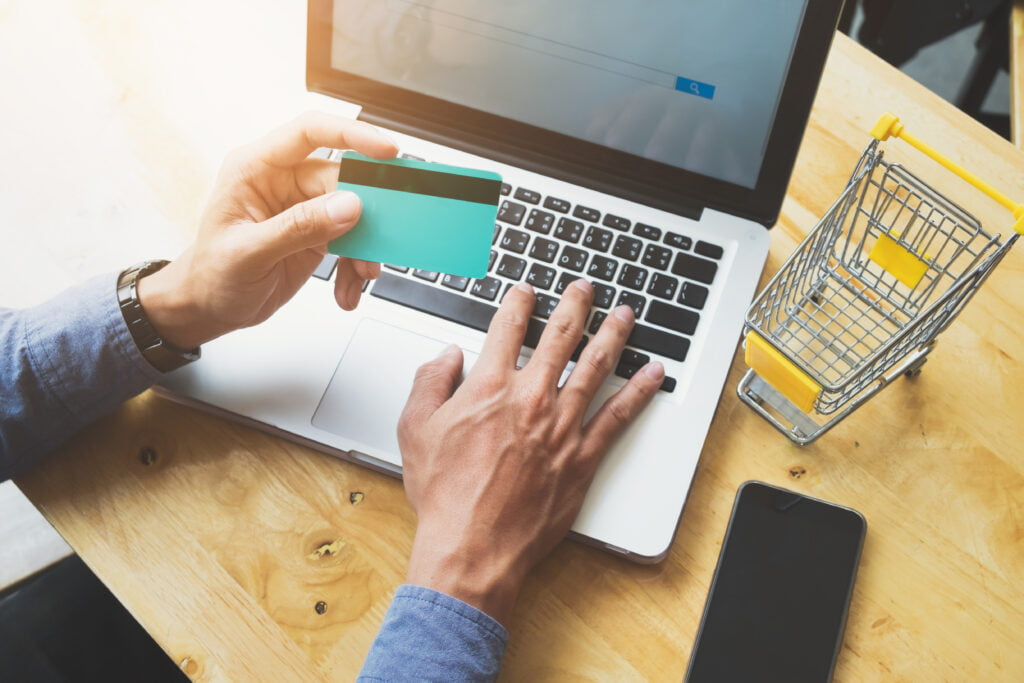 Making an online payment with payment gateways.