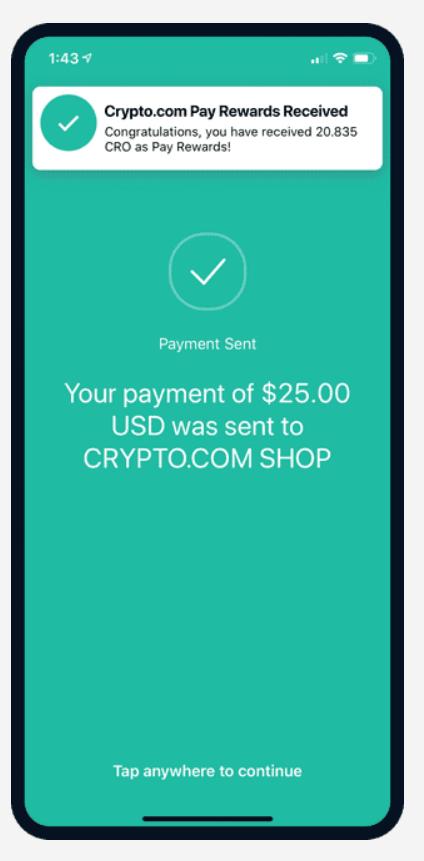 Cashback on Crypto.com Pay.